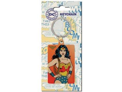 PŘÍVĚSEK NA KLÍČE|DC COMICS  WONDER WOMAN|4 x 6 cm|KOVOVÝ
