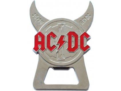 OTVÍRÁK NA LÁHVE 3D AC/DC  CORNERS LOGO KOVOVÝ 9 cm