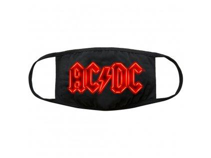 ROUŠKA NA ÚSTA|AC/DC  NEON LOGO|UNIVERZÁLNÍ