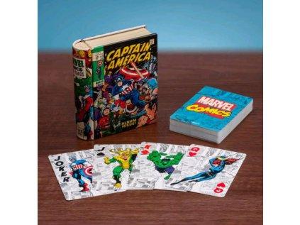 KARTY HRACÍ|MARVEL  COMIC BOOK|PLECHOVÁ KRABIČKA