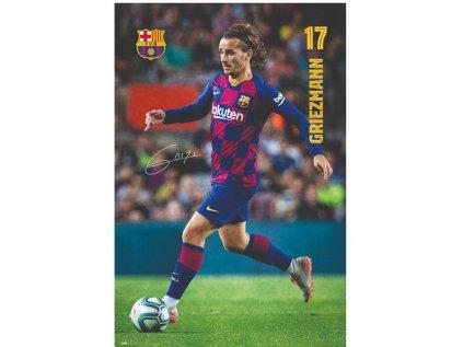 PLAKÁT 61 x 91,5 cm|BARCELONA FC  ANTOINE GRIEZMANN ACTION