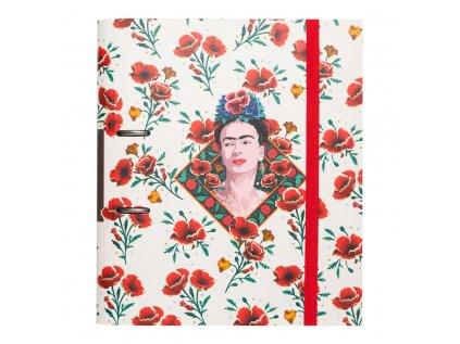 KROUŽKOVÝ POŘADAČ|FRIDA KAHLO  PREMIUM|FLORES|28 x 32 x 7 cm