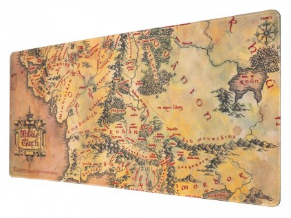 PODLOŽKA HERNÍ|LORD OF THE RINGS  A MAP OF MIDDLE EARTH|80 x 35 cm