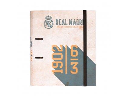 KROUŽKOVÝ POŘADAČ|REAL MADRID FC  PREMIUM|VINTAGE|28 x 32 cm