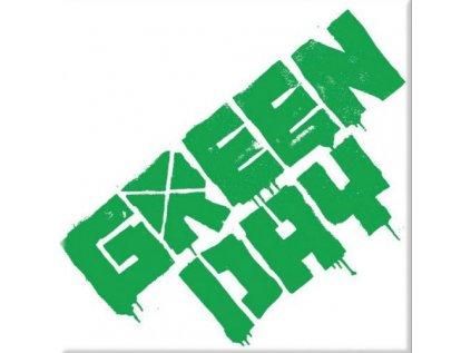 MAGNET KOVOVÝ 7,6 x 7,6 cm  GREEN DAY|LOGO
