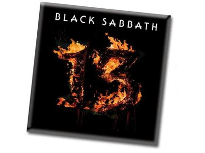 MAGNET KOVOVÝ 7,6 x 7,6 cm  BLACK SABBATH 13 ALBUM