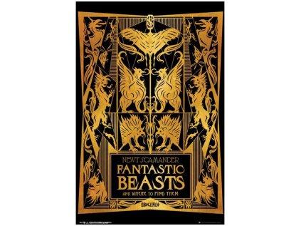 PLAKÁT 61 x 91,5 cm  FANTASTIC BEASTS|BOOK COVER
