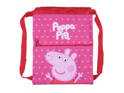 PYTLÍK GYM BAG|DĚTSKÝ|PEPPA PIG  27 x 33 cm|CHARACTER
