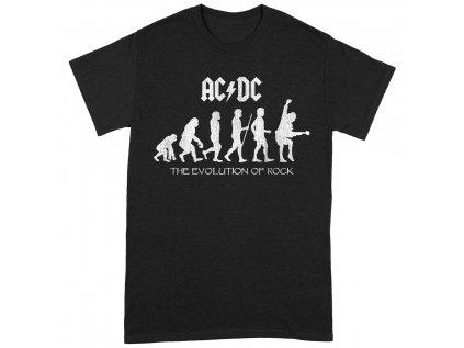 TRIČKO DĚTSKÉ|AC/DC  EVOLUTION OF ROCK|ČERNÉ
