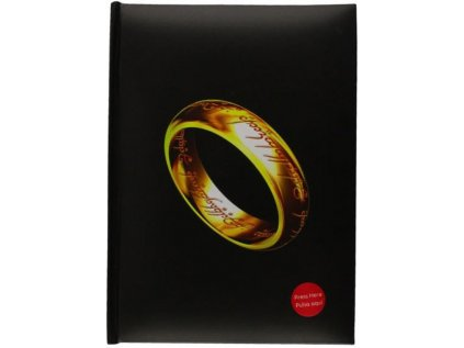 BLOK ZÁPISNÍK A5 LORD OF THE RINGS  LIGHT THE ONE RING