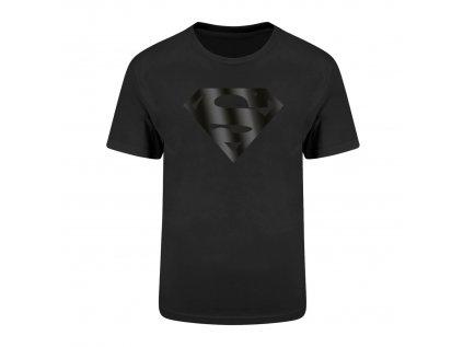TRIČKO PÁNSKÉ|DC COMICS  SUPERMAN|BLACK ON BLACK|ČERNÉ