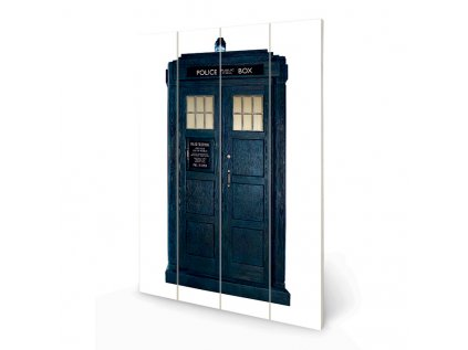 OBRAZ|MALBA NA DŘEVĚ 40 cm x 59 cm  DOCTOR WHO|TARDIS