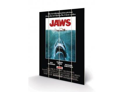 OBRAZ MALBA NA DŘEVĚ 40 cm x 59 cm  JAWS ONE SHEET