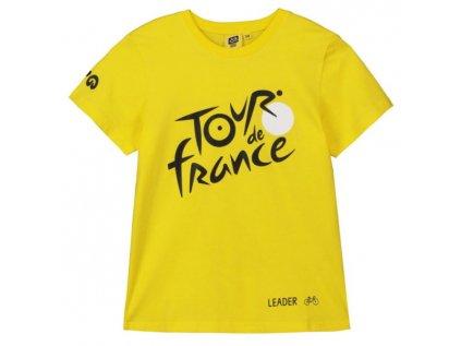 TRIČKO DĚTSKÉ TOUR DE FRANCE  LOGO ŽLUTÉ  (3-4 ROKY)