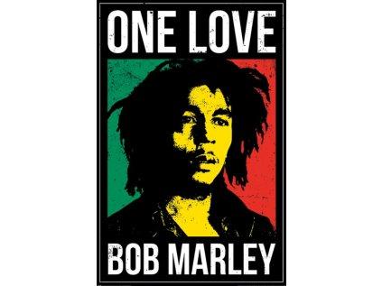 PLAKÁT 61 x 91,5 cm BOB MARLEY  ONE LOVE