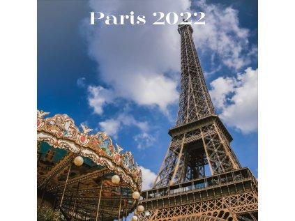 KALENDÁŘ 2022|CESTOVÁNÍ  PARIS (30 x 30|60 cm) SQ 16M