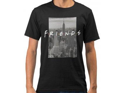 TRIČKO PÁNSKÉ|FRIENDS  NYC SKYLINE|ČERNÉ