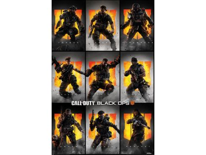 PLAKÁT 61 x 91,5 cm|CALL OF DUTY  BLACK OPS 4|CHARACTERS