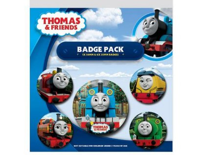PLACKY|ODZNAKY|SET 5 KUSŮ  THOMAS & FRIENDS|THE FACES OF SODOR
