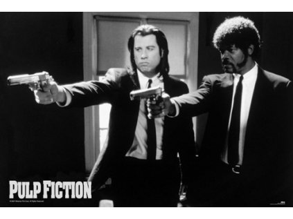 PLAKÁT 61 x 91,5 cm|PULP FICTION  B & W GUNS