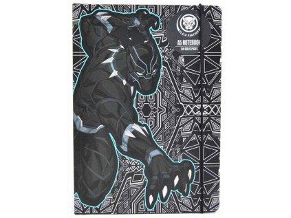 BLOK|ZÁPISNÍK A5|MARVEL  BLACK PANTHER|15 x 21 cm|120 listů