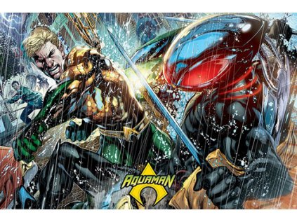 PLAKÁT 61 x 91,5 cm|DC COMICS  AQUAMAN|ATLANTEAN PUNCH