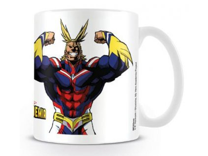 HRNEK KERAMICKÝ|MY HERO ACADEMIA  315 ml|ALL MIGHT FLEX|BÍLÝ