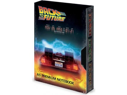 BLOK|ZÁPISNÍK A5|PREMIUM  BACK TO THE FUTURE|GREAT SCOTT VHS