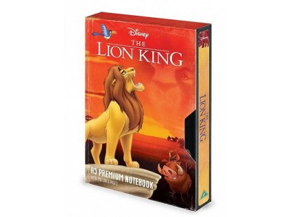BLOK|ZÁPISNÍK A5|PREMIUM  THE LION KING|CIRCLE OF LIFE