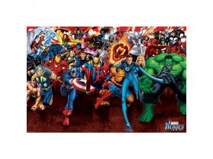 PLAKÁT 61 x 91,5 cm|MARVEL COMICS  HEROES|ATTACK