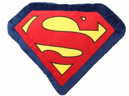 POLŠTÁŘ|DC COMICS|SUPERMAN  LOGO|47 x 47 cm|MODRÝ