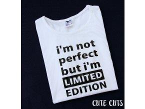 tričko I'M NOT PERFECT