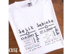 tričko DETAILY NAROZENÍ