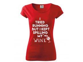 tričko RUNNING_WINE