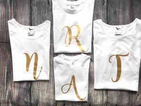 Tričko s iniciálou