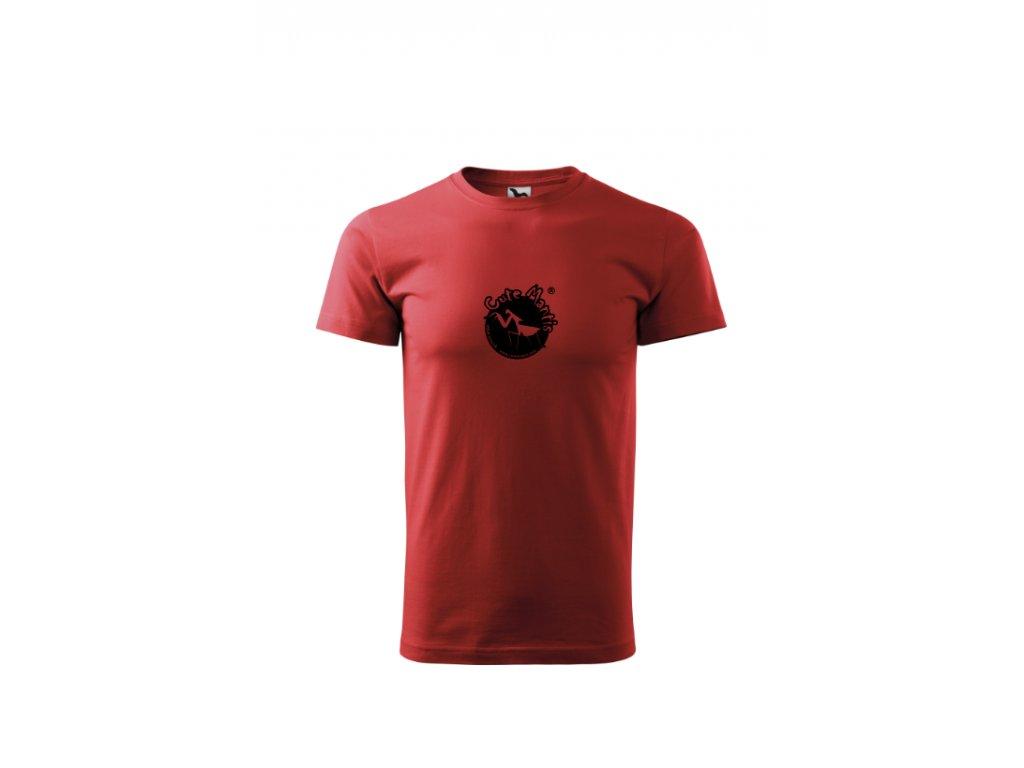 Panské tričko Cute Mantis červené
