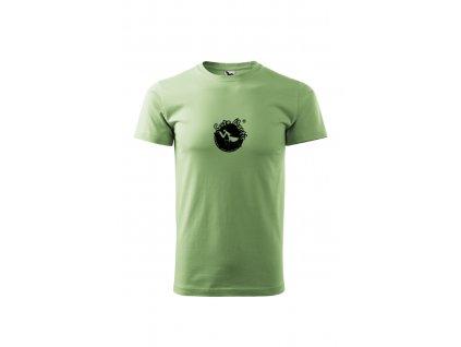 tričko unisex trávově zelená