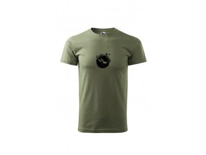 Tričko khaki panské unisex