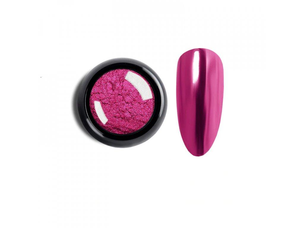 1018 cutenails lestici pigment chromatic mirror effect dark pink
