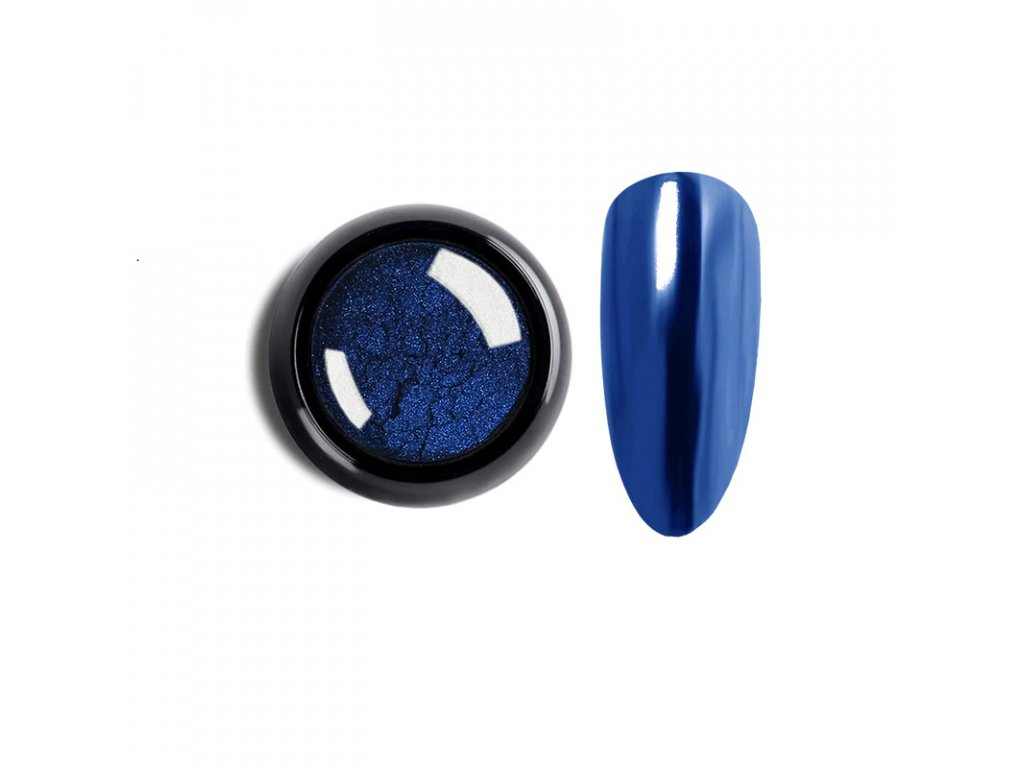 1024 cutenails lestici pigment chromatic mirror effect royal blue