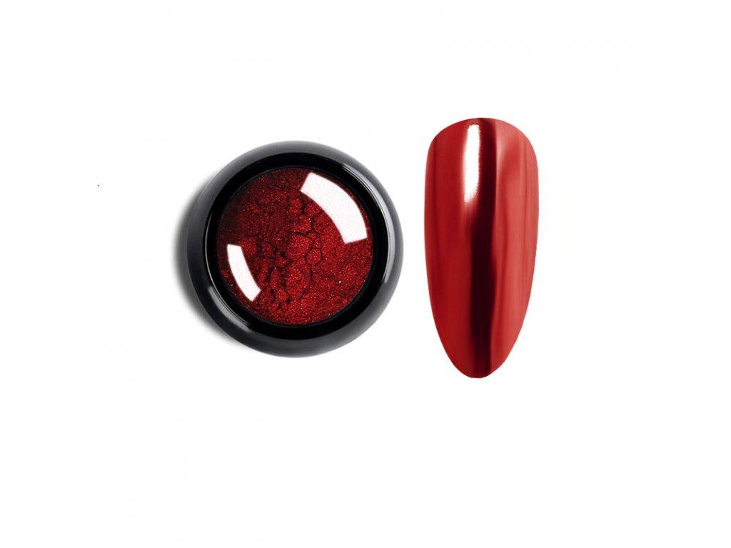 1027 cutenails lestici pigment chromatic mirror effect light red
