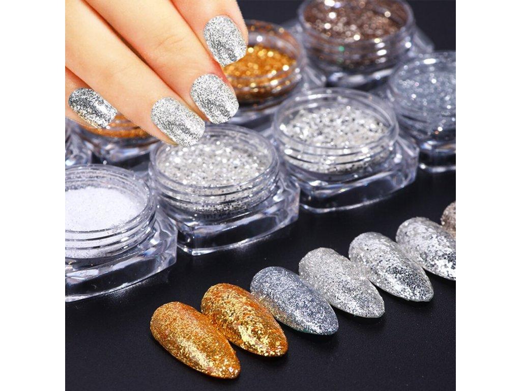 1165 full beauty dekorace 8 ks silver gold
