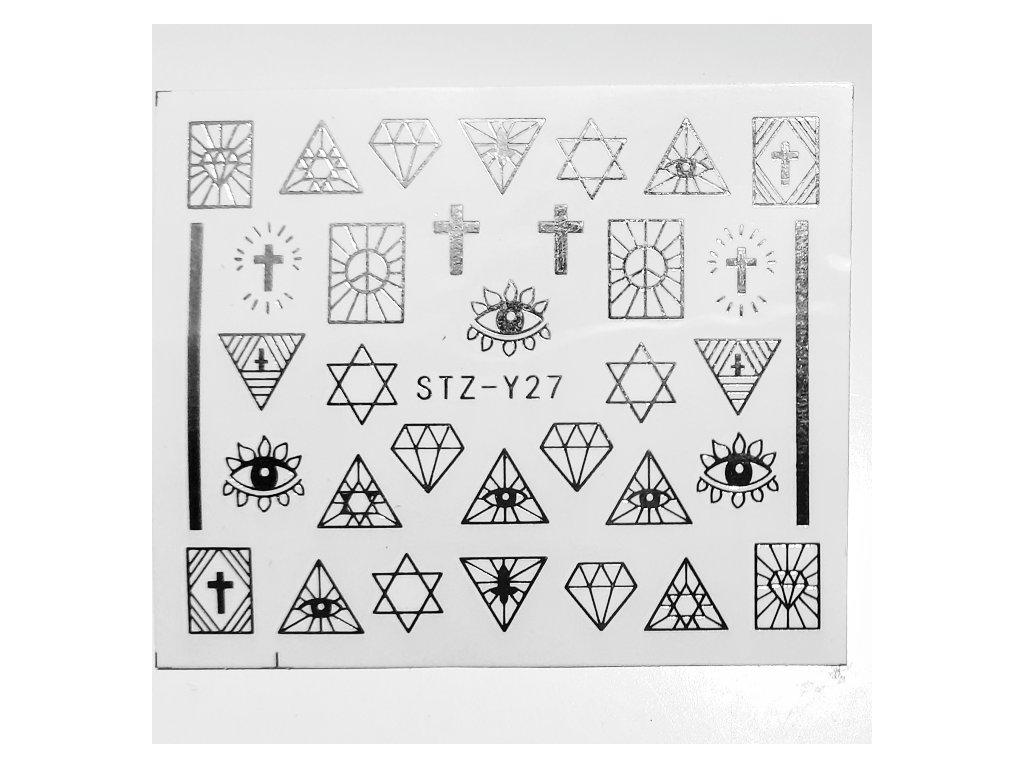 1459 cutenails vodolepky silver motives