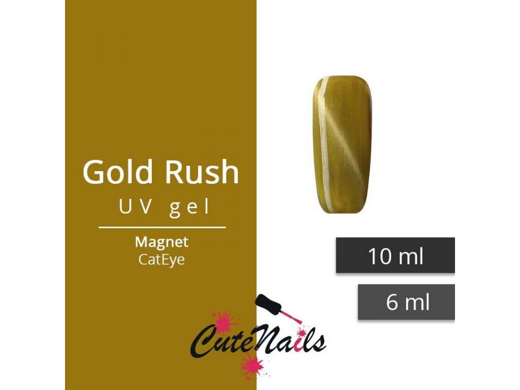 145 slygos magneticky uv gel 10ml cat eye gold rush