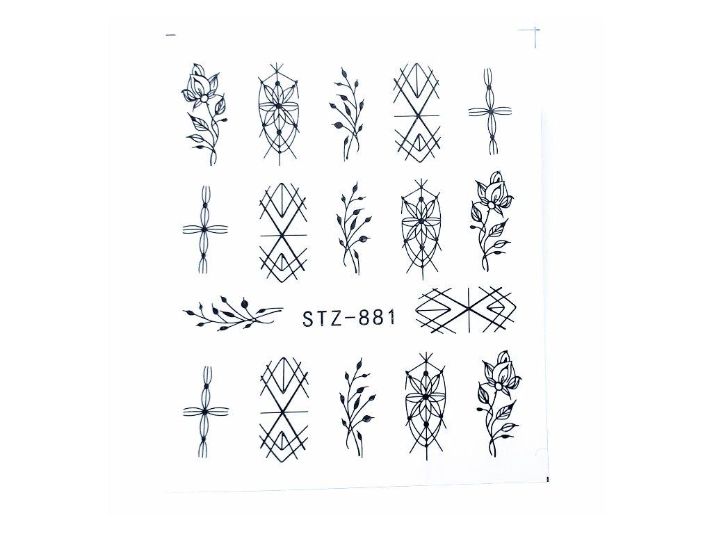 1471 cutenails vodolepky floral ornaments