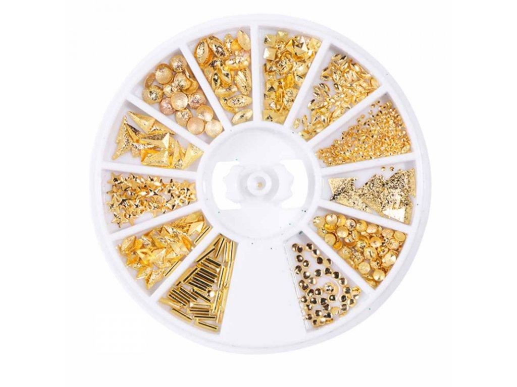 1486 cutenails ozdoby na nehty gold shapes