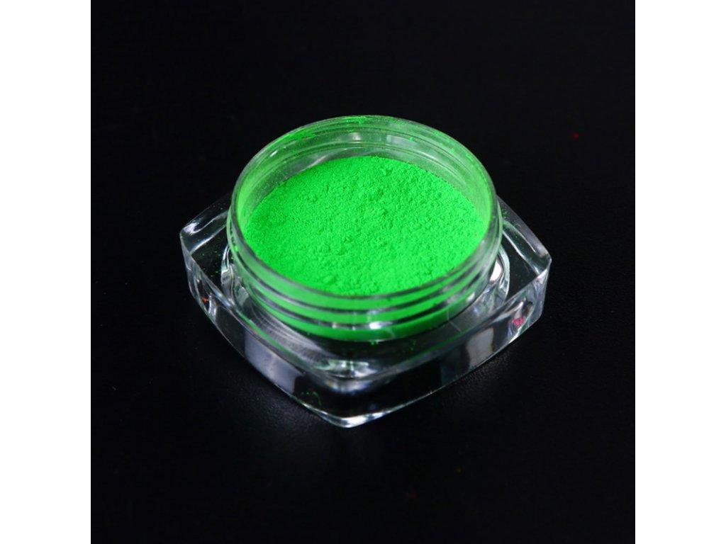1516 cutenails neonovy pigment zelena