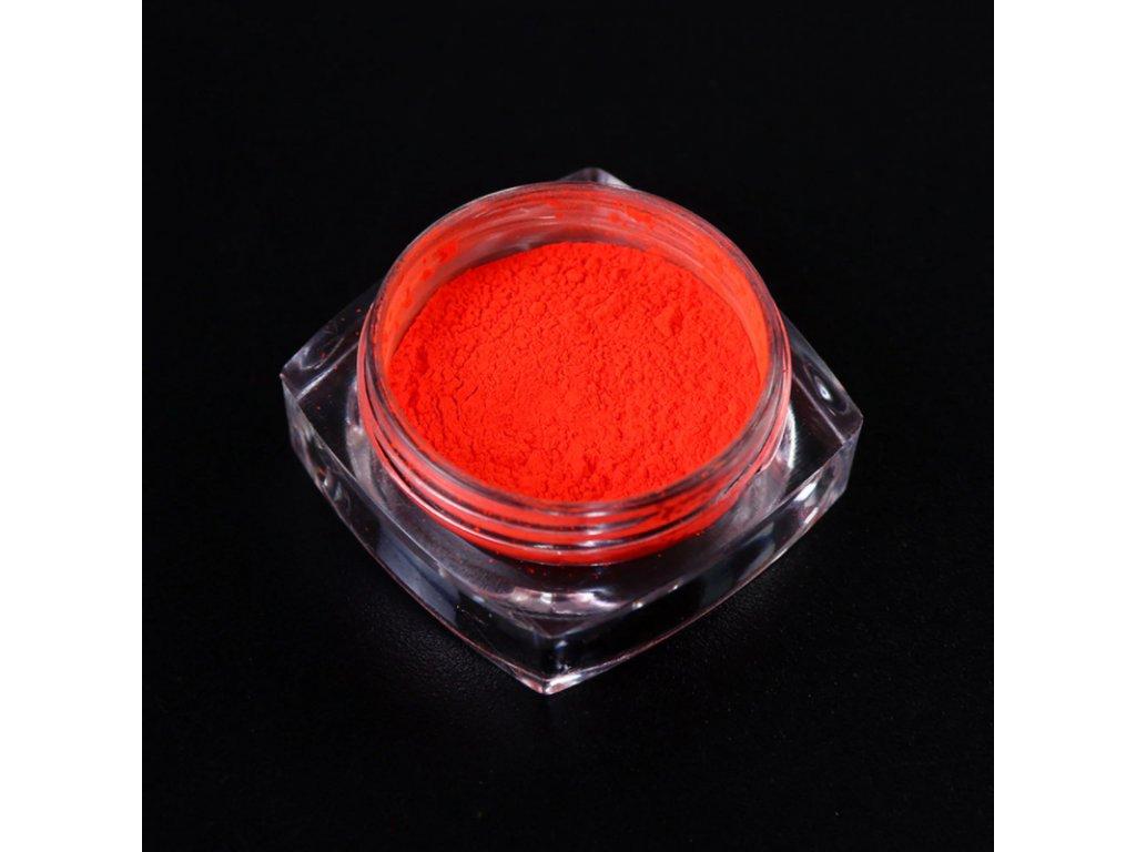 1525 cutenails neonovy pigment oranzovocervena