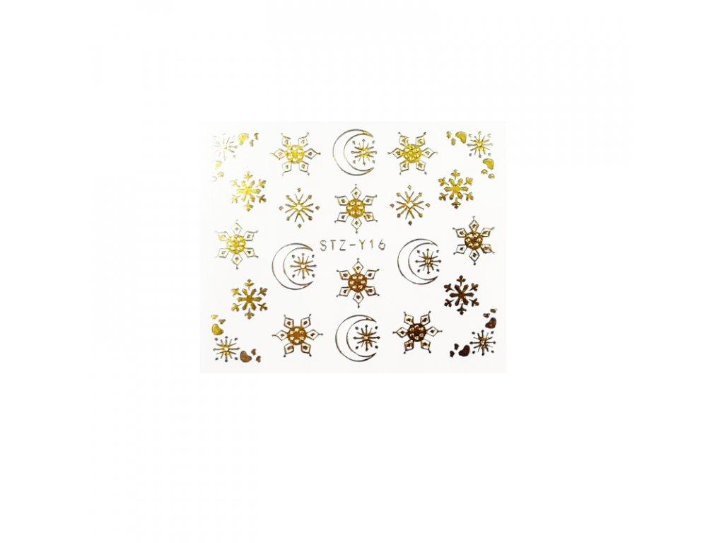 1603 cutenails vodolepky mesicni vlocky stribrne zlate