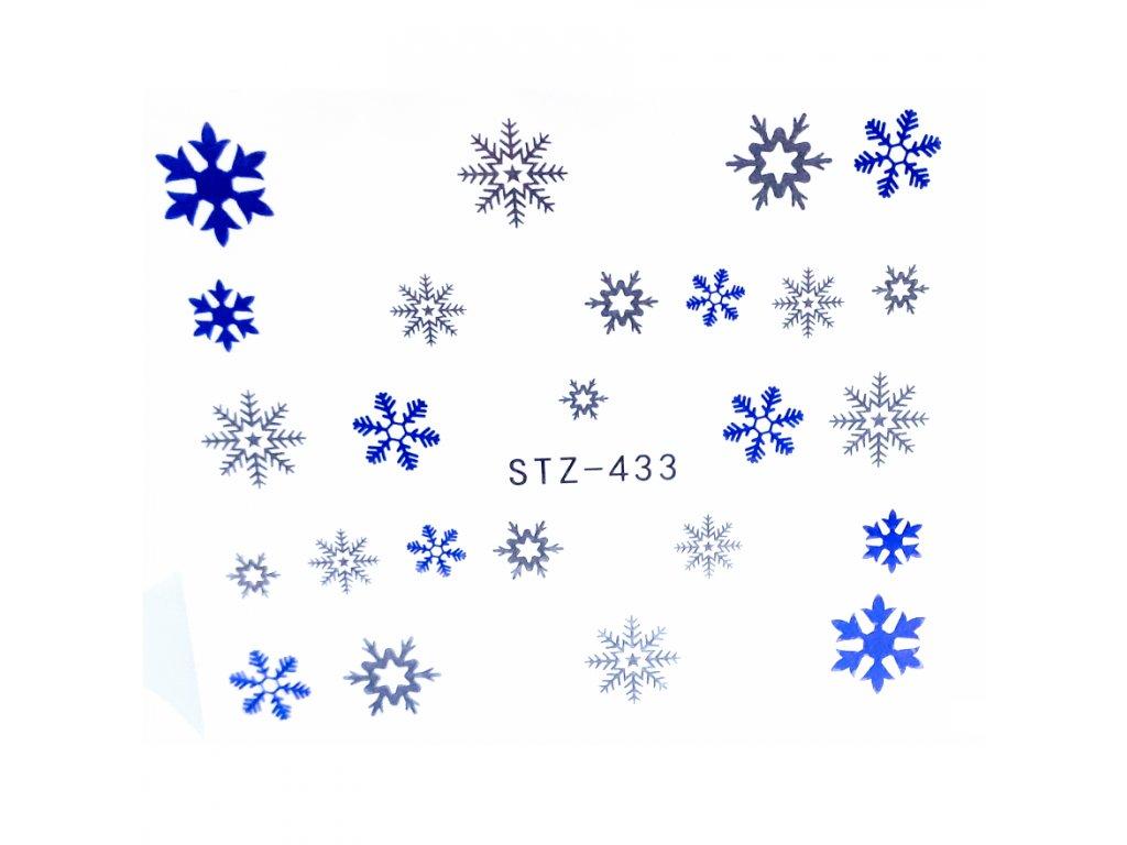 1630 cutenails vodolepky modre vlocky